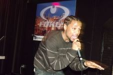 Derty Harry singing acapella at The Chi City Record Pool Showcase