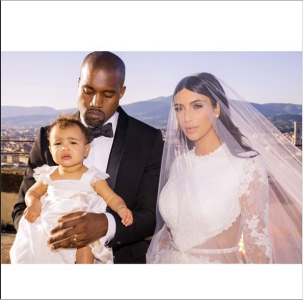 kim kardashian kanye west north wedding day