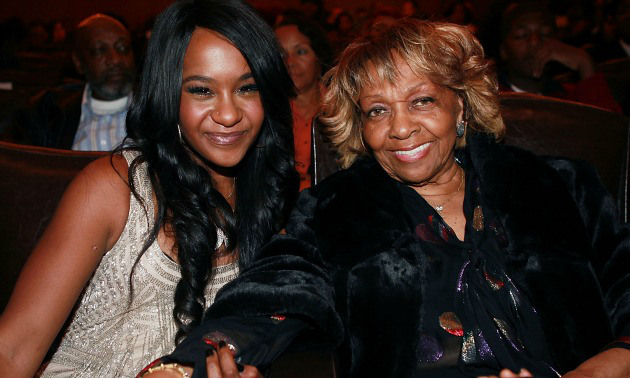 Cissy Houston and Bobbi Kristina At A Ceremony
